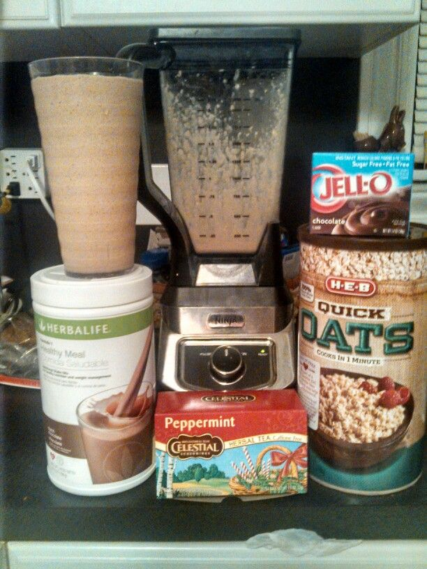 #Herbalife #HealthyLiving Chocolate  peppermint bliss 2 scoops chocolate Herbalife shake mix ½ cup brewed peppermint tea ½ cup oatmeal ¼ teaspoon chocolate pudding mix 1 cup of ice Approximately 250 calories
