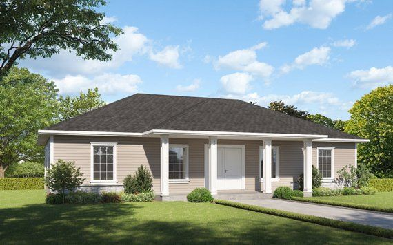 The Willow Lane House Plan Gable Roof Option Etsy Building Plans House House Plans Bedroom House Plans