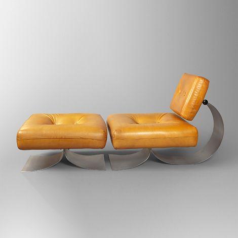 Lounge chair by Oscar Niemeyer, c.1978.