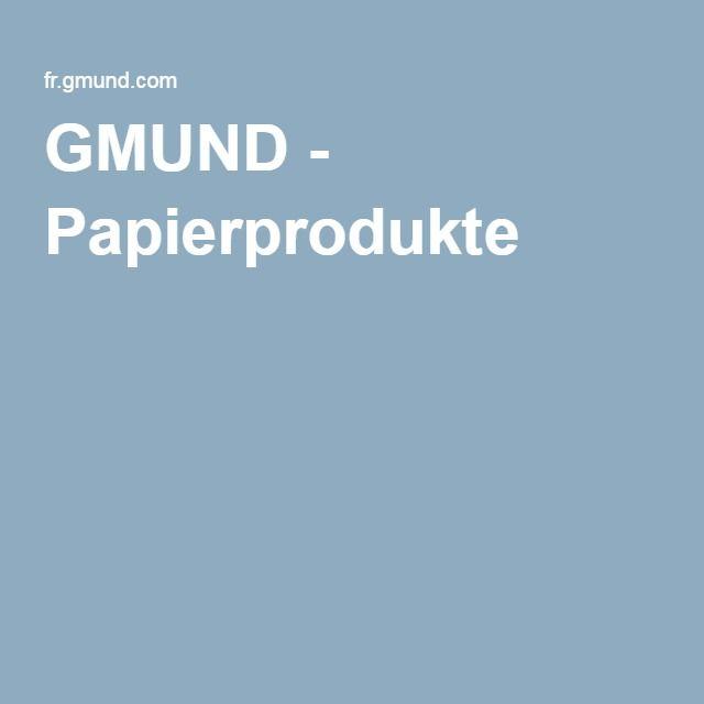 GMUND - Papierprodukte