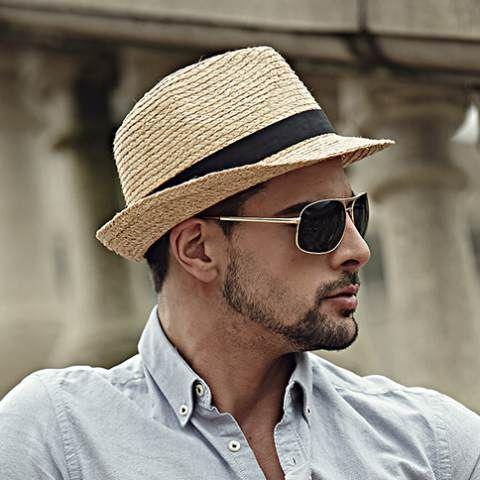Mens panama hats crimping design sun straw hat hat band decoration