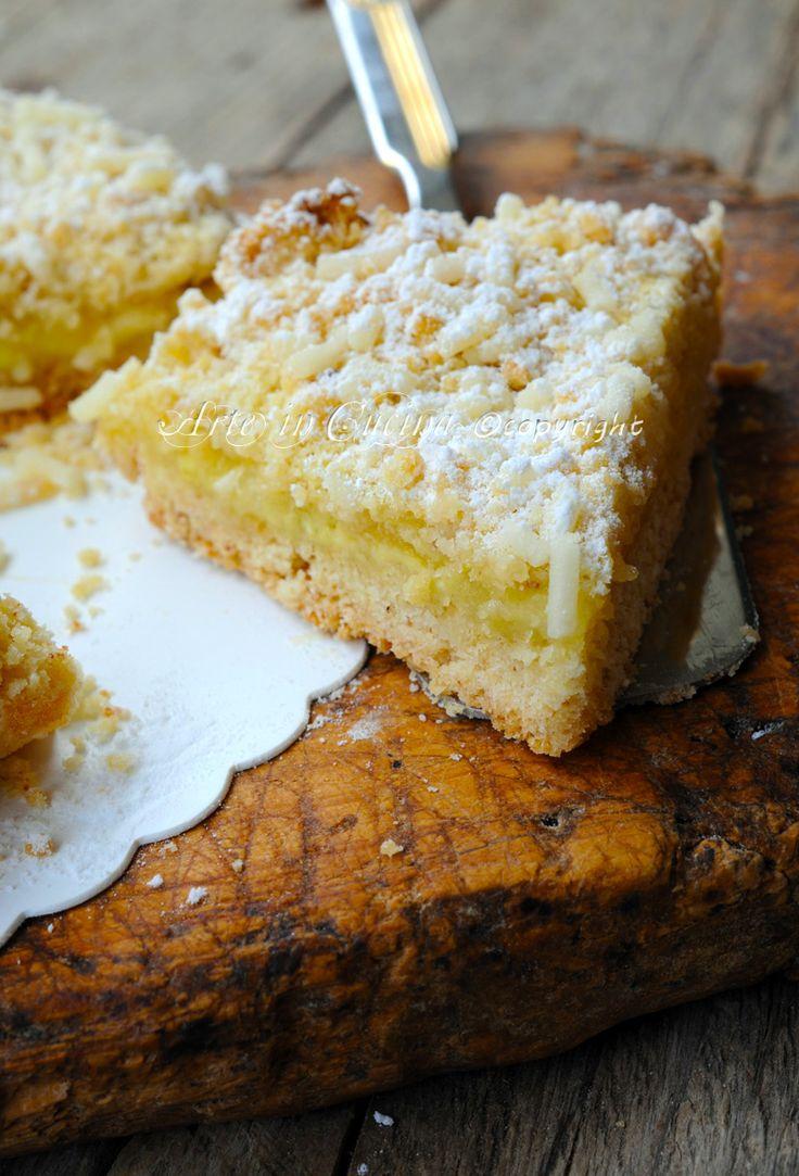 Sbriciolata alle mele con crema dolce veloce vickyart arte in cucina