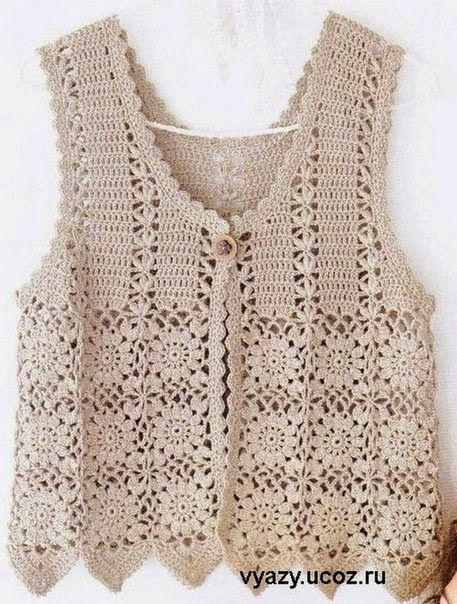 Free Crochet Charts and Explanation for Vintage Timeless Vest