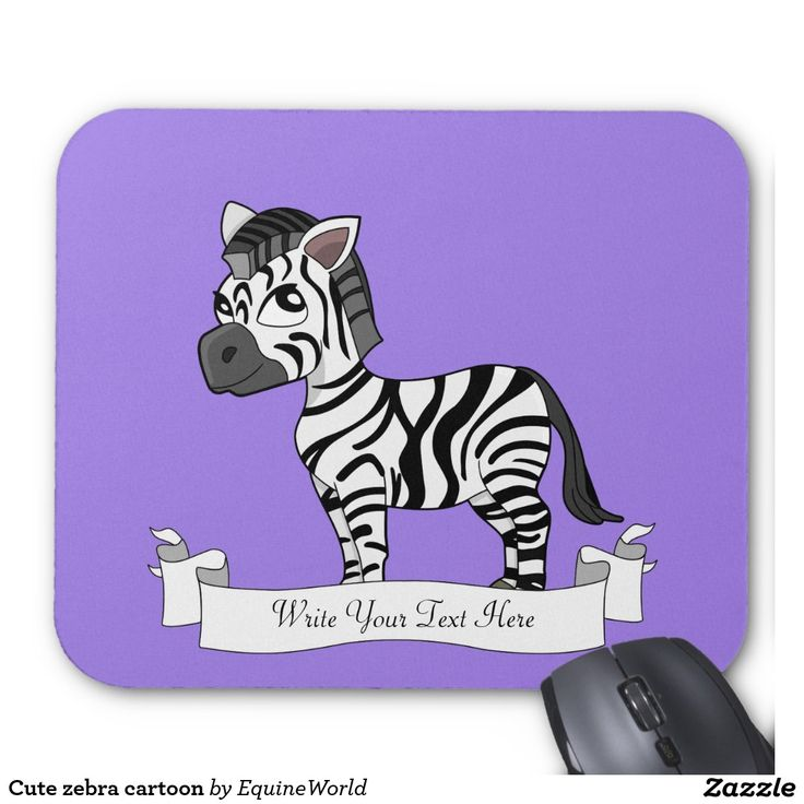 Cute zebra cartoon mouse pad