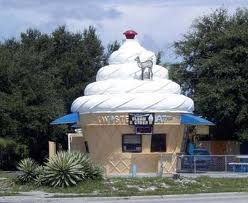 soft serveStrange Buildings, Icecream House, House Buildings Structures, Unusual Buildings, Architecture, Sarasota Florida, Food Buildings, Icecream Buildings, Ice Cream Cones