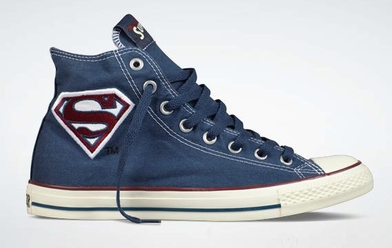 Converse Chuck Taylor x DC Comics. Can't deny, the S does it every time.