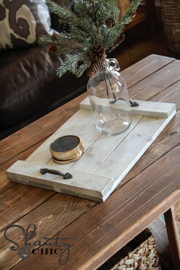 DIY Wood Tray - this is so darn cute! I can't wait to make it!