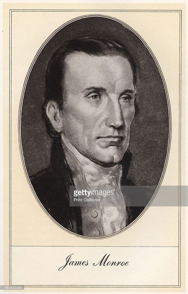 James Monroe, fifth President of the United States, (early 20th century). Monroe (1758-1831) was president from 1817 until 1825.