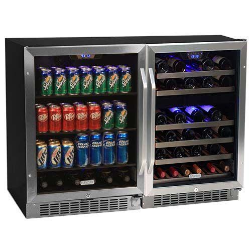 edgestar 46 bottle 148 can 48 sidebyside wine and beverage center - Beverage Coolers