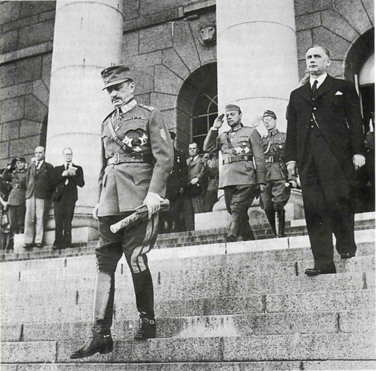 Marshal Carl Mannerheim after his election as President of Finland