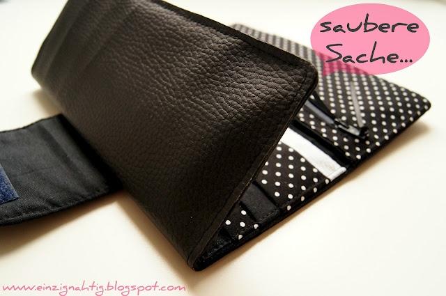 Big Money Bag nähen - Tipp Leder