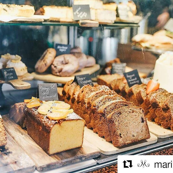 #Repost @marinamirage (@get_repost)  Feast your eyes on this delicious line-up of freshly baked goods at Diva Tea & Coffee House.