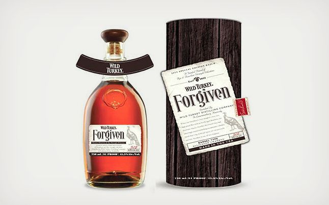 "Wild Turkey Forgiven // ""forgiven"" mix between rye whiskey and bourbon"