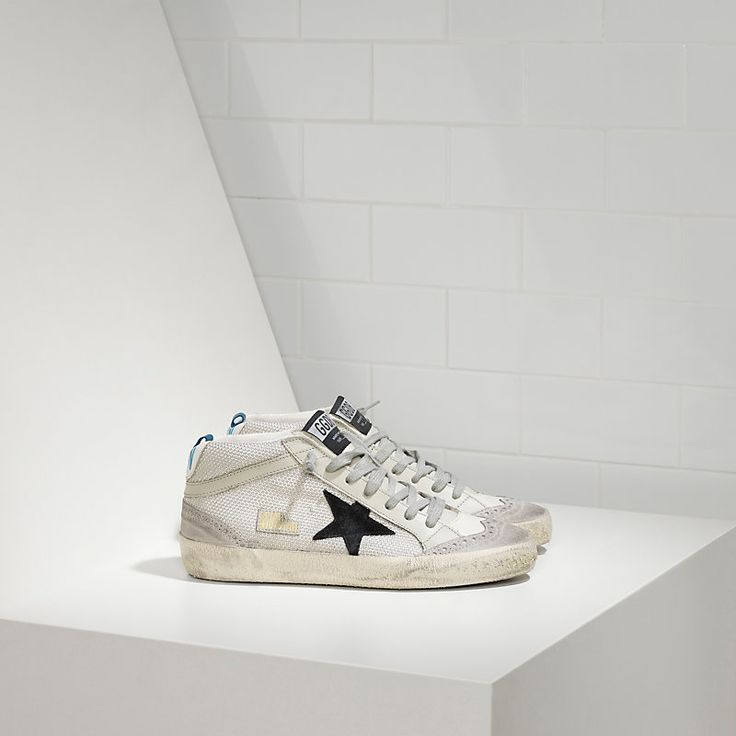 MID STAR sneakers in bonded fabric with suede star - Women