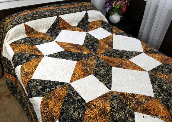 Queen Size Bed Quilt Carpenter Star 100 Quot X 100 Quot Black