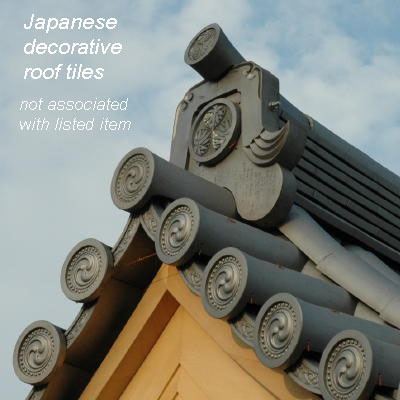 Decorative Japanese roof tiles