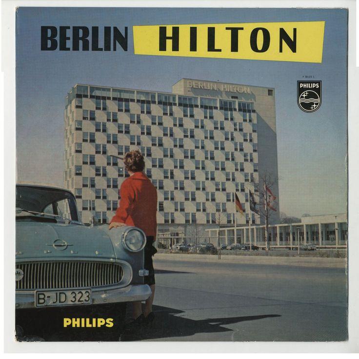 """Berlin 1958 Schallplatte der Firma Philips zur Eroeffnung des Hilton Hotels in der Budapesterstrasse (""""Musik aus dem Ambassador-Restaurant"""")"""