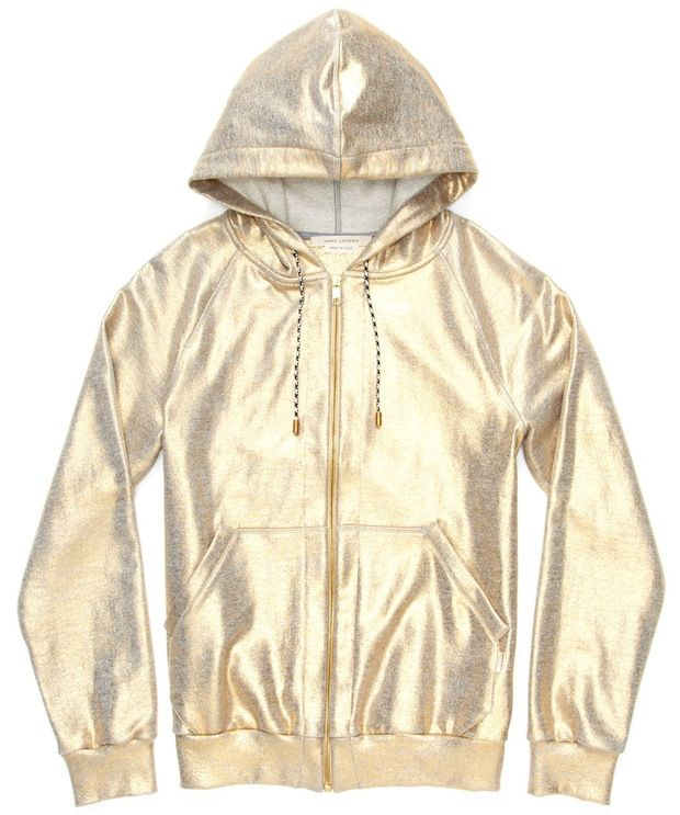 Marc-Jacobs-Gold-Metallic-Hoodie$830