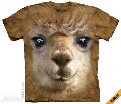 Big Face Alpaca - The Mountain - Koszulka z alpaką - www.veoveo.pl