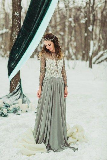 gray wedding dress серое свадебное платье