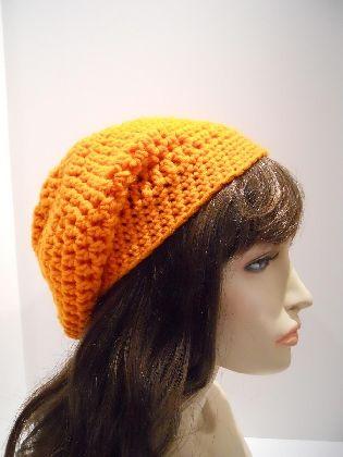 Orange Slouchy Fashion Hat