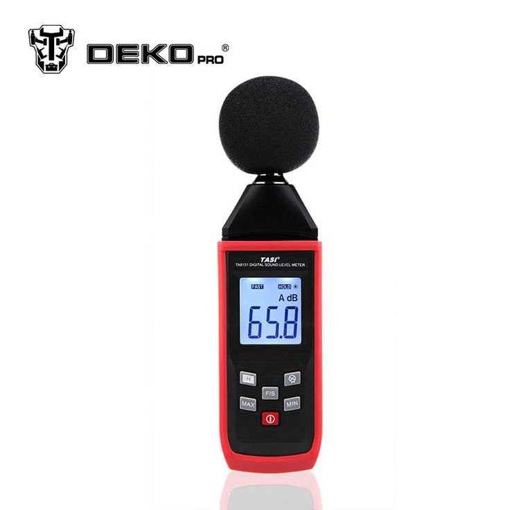 DEKOPRO Noise Measuring Instrument Digital Sound Level Meter Portable Noise Tester Decibel Monitoring Diagnostic-tool