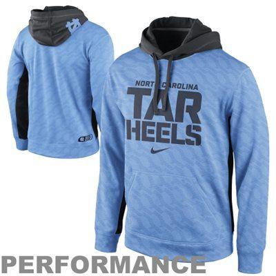 Lexi/james---(30 each) North Carolina Tar Heels Nike KO Performance Hoodie - Carolina Blue Color