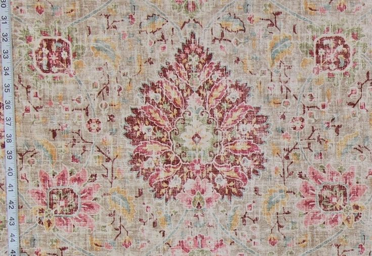 Vintage Victorian rug fabric maroon pink chenille velvet upholstery from Brick House Fabric: Novelty Fabric