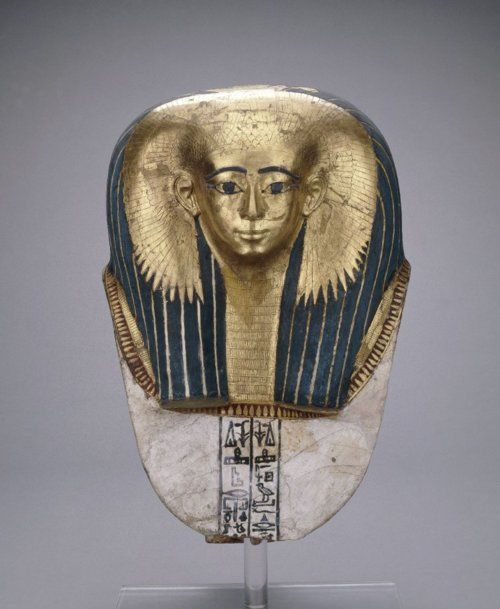 Mummy mask, Early 18th Dynasty Ancient Egypt, 1500 BCE  Lots of ancient Egyptian Artifacts in THE STOLEN CHALICE