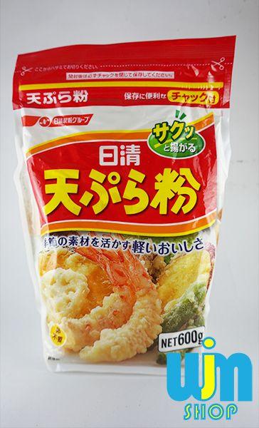 Tepung Tempura - Nissihin Tempurako Isi: 600gram Berat: 600gram  1Kg bisa via JNE bisa muat 2 bungkus tepung tempura  Keterangan lebih lanjut dapat membuka link web di bawa ini  Minat: SMS/WA: 08996752411 PIN BB: 57EE3E90 WEB: http://wjmshop.com/nissihin-tempurako-600gram/
