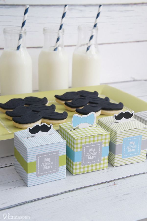 Little Man Baby Shower Ideas | Little Man Birthday Party Ideas | Bow Tie Baby Shower | kateaspen.com | blog.kateaspen.com | #kateaspen #partyfavors #babyshower #mustacheparty