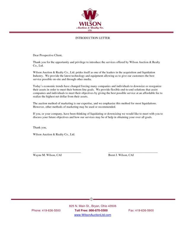 Business Introduction Letter Introduction Letter Lettering