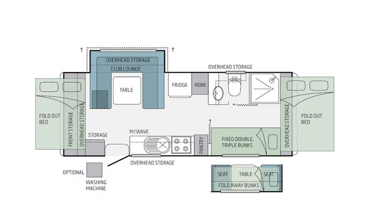Jayco Floorplan for the Expanda,20.64-1.