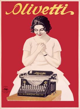 Vintage Advertising Posters | Olivetti typewriters
