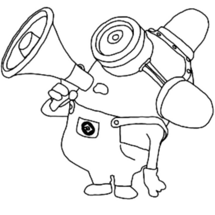 coloring pages simple minions - Kid Colouring Games
