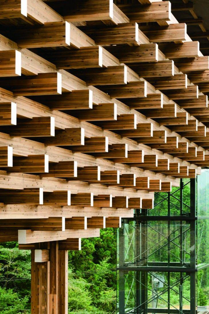 Museo puente de madera Yusuhara by Kengo Kuma & Associates (Takaoka-gun, Prefectura de Kochi) #architecture