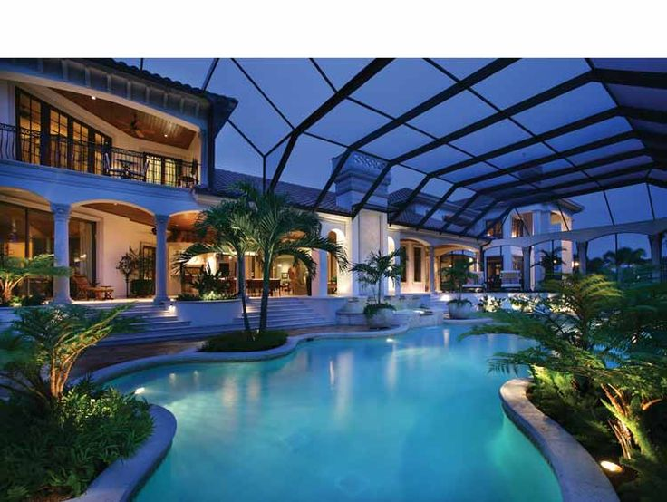17 best ideas about indoor outdoor pools on pinterest for Luxury home plans with indoor pool