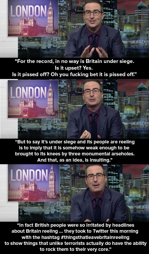 John Oliver Explains Why It Was Wrong To Say Britain Was