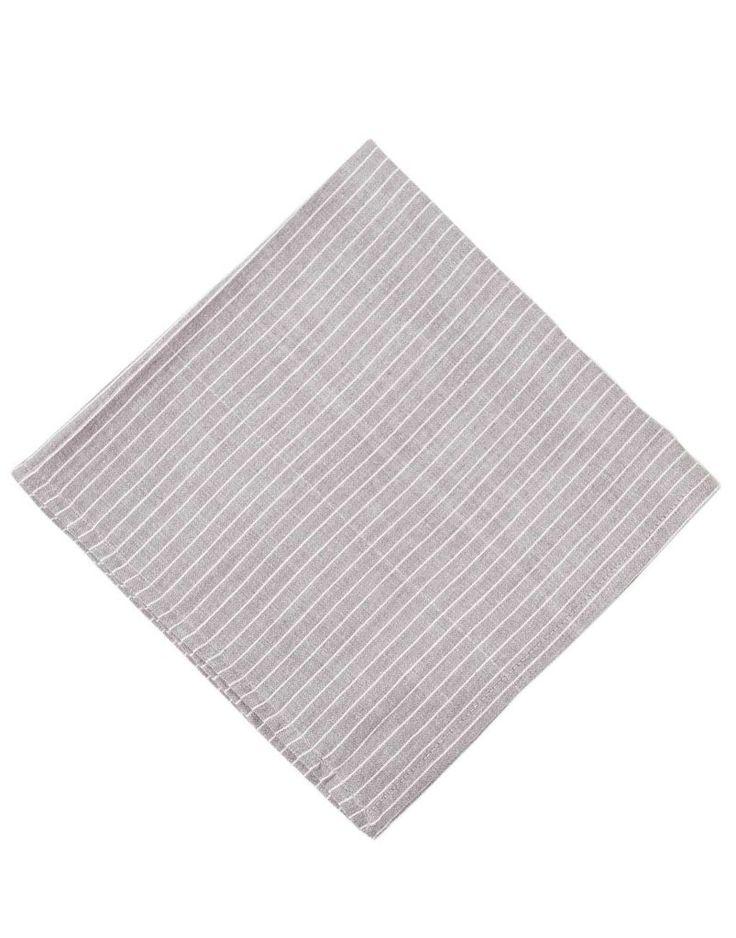 Love these gray pin stripe napkins!