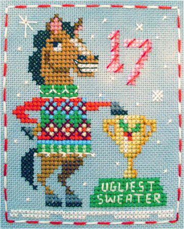 Hamilton Horse #17 of 25 Brooke's Books Advent Animals cross stitch freebies by Brooke Nolan http://www.brookesbooks.com/CrossStitchFreebies2.html