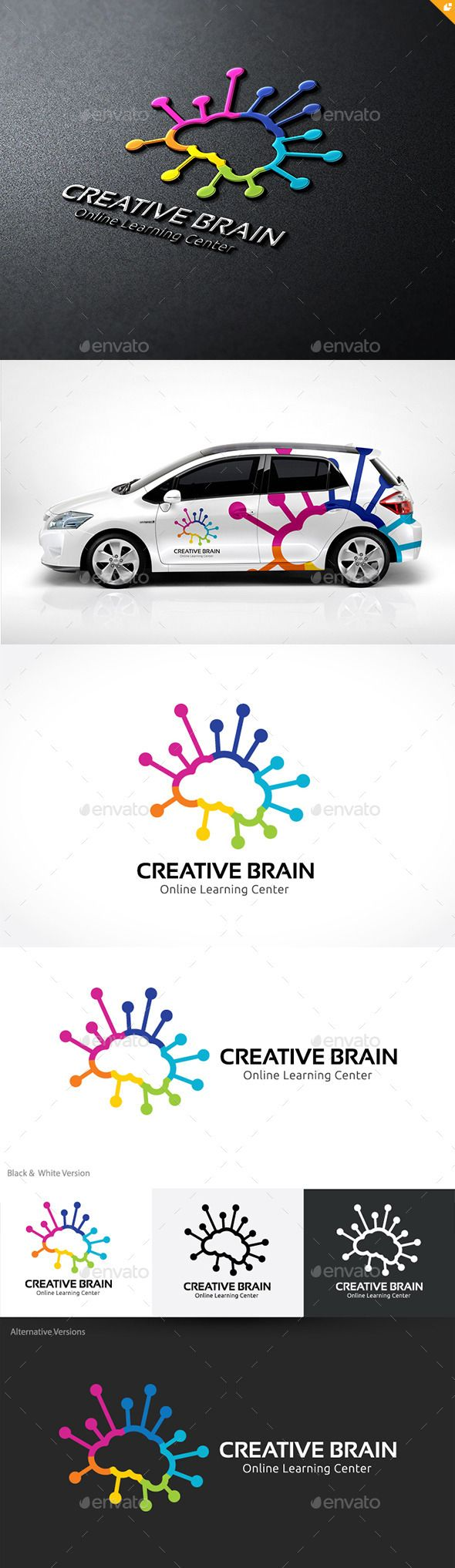Creative Brain Logo Template PSD, Vector EPS, AI #logotype Download here: http://graphicriver.net/item/creative-brain/10241849?ref=ksioks