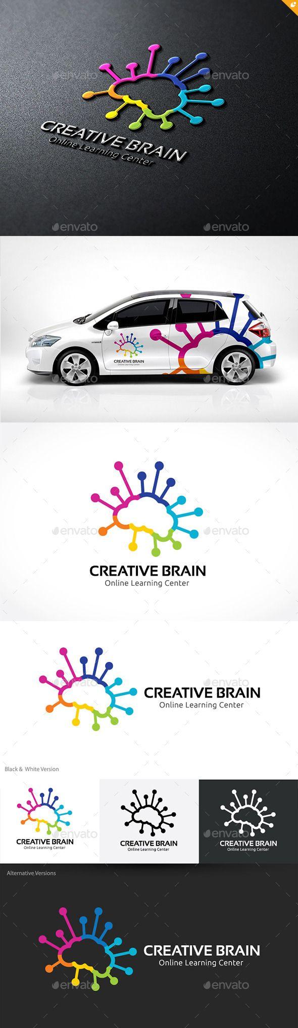 Creative Brain Logo Template PSD, Vector EPS, AI #logotype Download here: http://graphicriver.net/item/creative-brain/10241849?ref=ksioks