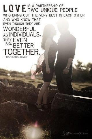 Relationships should always bring out the best in each other.