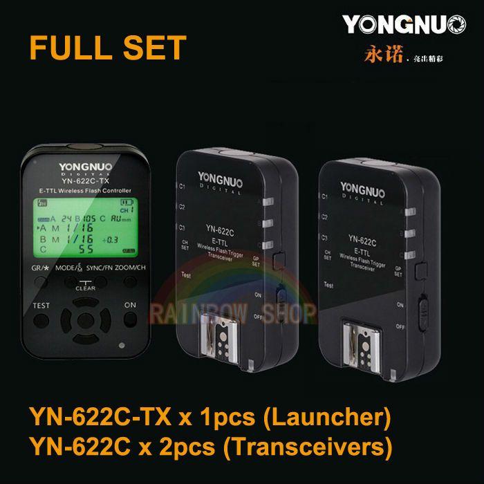 >> Click to Buy << Yongnuo 1 x YN-622C-TX + 2 x RX YN-622C e-TTL LCD Wireless Flash Trigger Set for Canon 5D2 5D3 6D 7D 60D 70D 700D 650D 600D #Affiliate