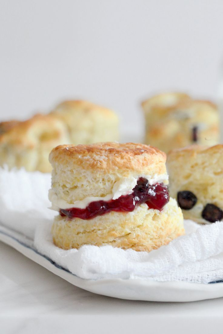 Meyer Lemon & Blueberry Cream Scones