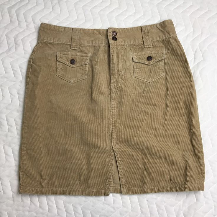 Ladies Old Navy Blue Jeans Brown Cordory Skirt Size 2    eBay
