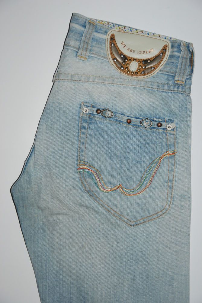 We Are Replay Womens Jeans Biagio VU 1546 034 W 31 L 34 Boot cut Light Blue
