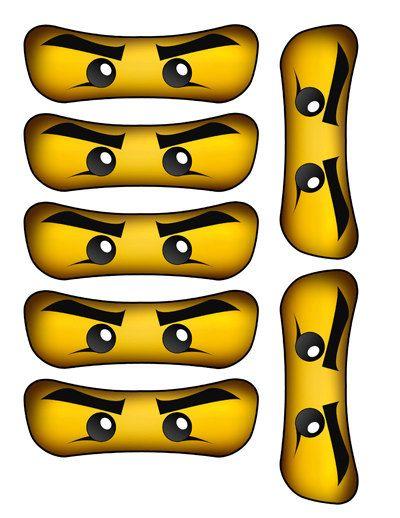 Ninjago Augen Ausdrucken Pdf : Printable NinjaGo Eyes - 8 Sizes - Ninjago by LittleLight ...