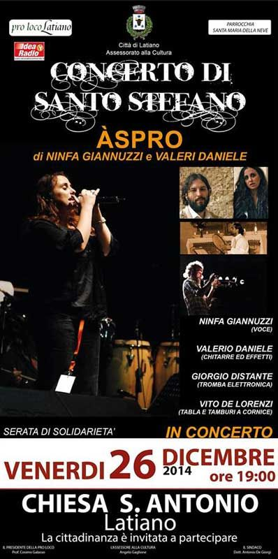 #Concerto di Santo Stefano il 26 #Dicembre 2014 nella Chiesa di S. Antonio a #Latiano (Br).