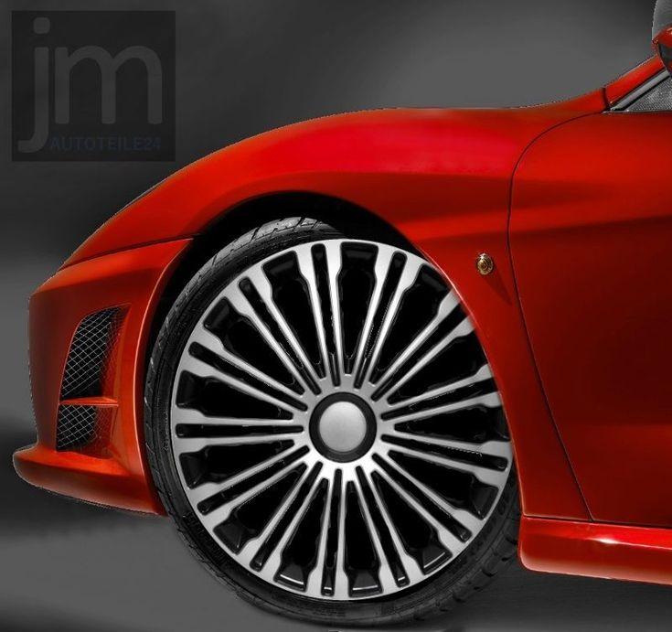 """4x Radkappen VOLANTE SILVER & BLACK 17"""" Zoll Radzierblenden BMW AUDI VW"""